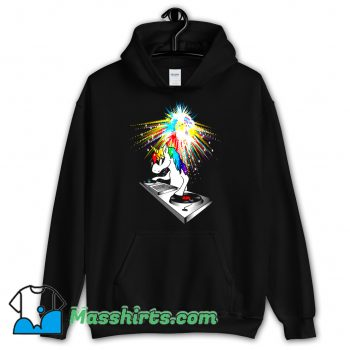 Cheap DJ Unicorn Techno Top Hoodie Streetwear