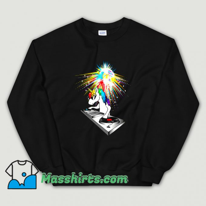DJ Unicorn Techno Top Sweatshirt On Sale