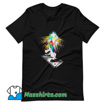 DJ Unicorn Techno Top T Shirt Design