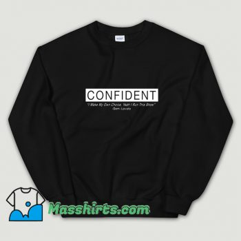 Cool Demi Lovato Confident Album Sweatshirt