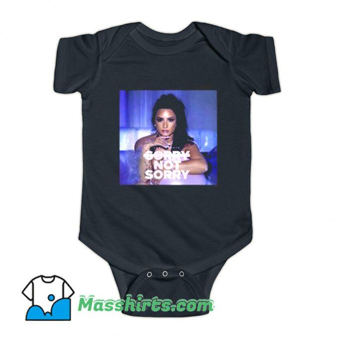 Demi Lovato Sorry Not Sorry Music Baby Onesie
