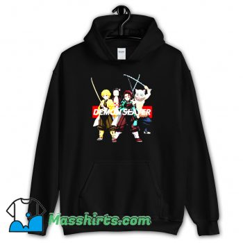 Cute Demon Slayer Kimetsu Anime Merch Hoodie Streetwear