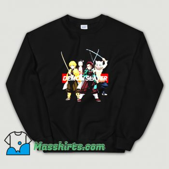 Original Demon Slayer Kimetsu Anime Merch Sweatshirt