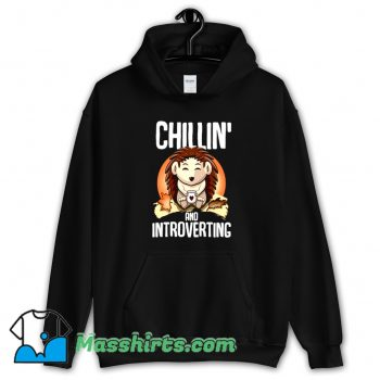 Hedgehog Chillin And Introverting Hoodie Streetwear