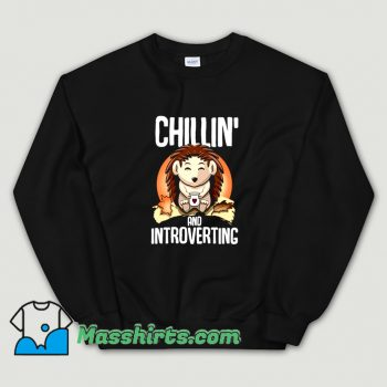 Vintage Hedgehog Chillin And Introverting Sweatshirt