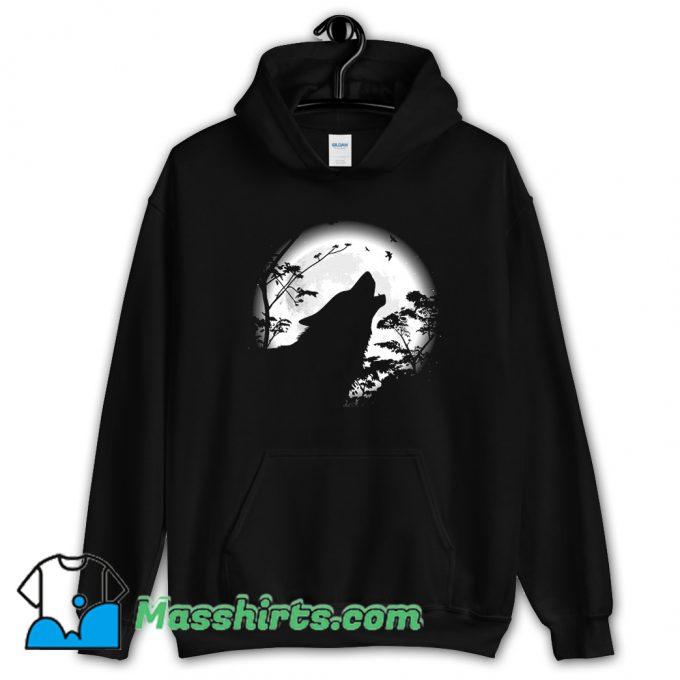 Howling Wolf Under The Moon Hoodie Streetwear