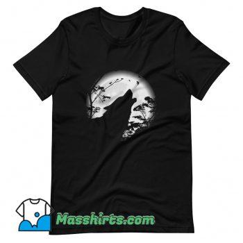Howling Wolf Under The Moon T Shirt Design