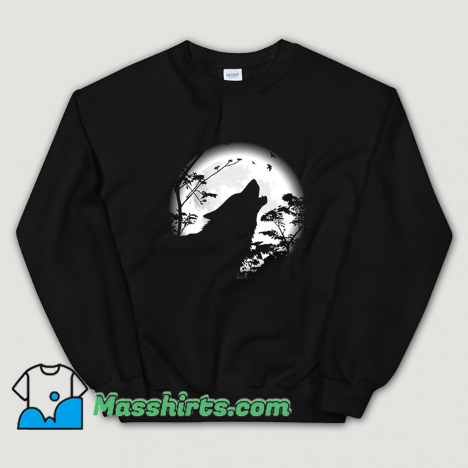 Howling Wolf Under The Moon Sweatshirt