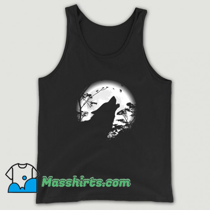 Howling Wolf Under The Moon Tank Top