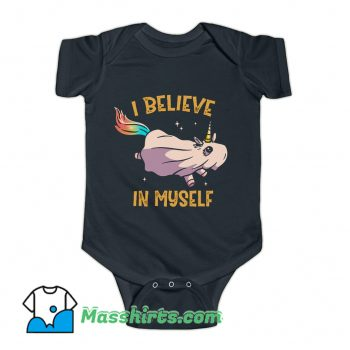 I Believe In Myself Unicorn Baby Onesie