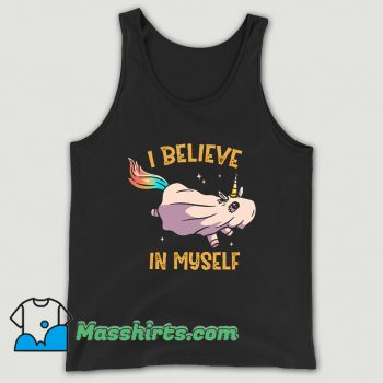 I Believe In Myself Unicorn Tank Top On Sale