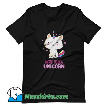 Vintage I Want To Be A Unicorn T Shirt Design