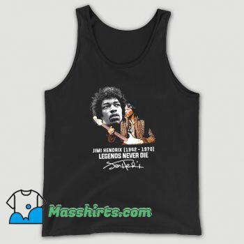 Jimi Hendrix Legends Never Die Signatures Tank Top