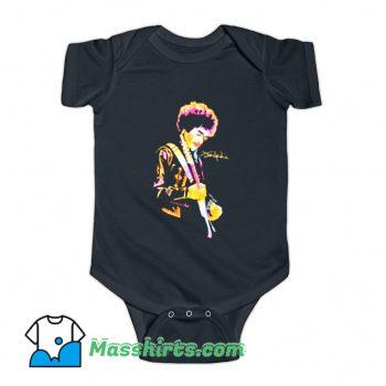Classic Jimi Hendrix Monterey 1967 Baby Onesie