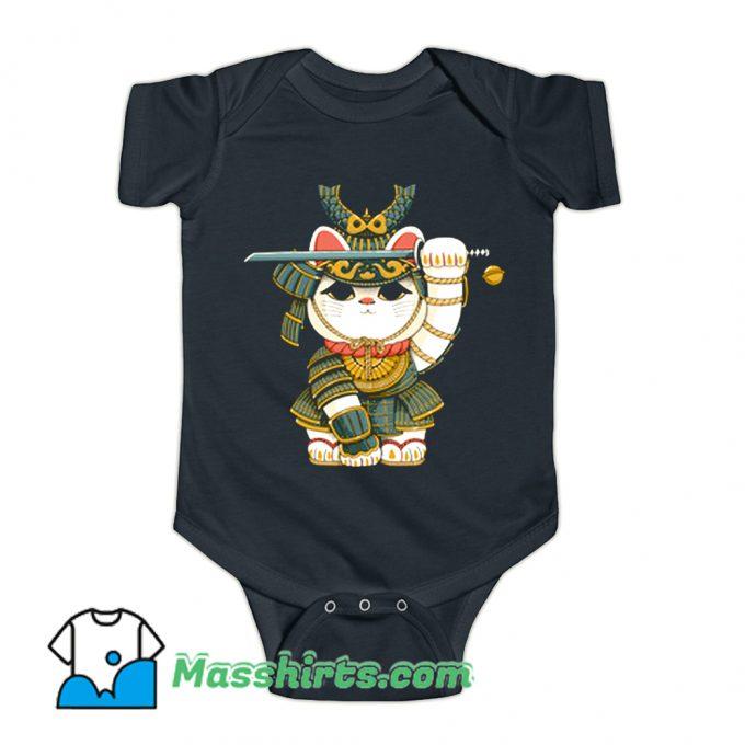 Lucky Cat Samurai Baby Onesie