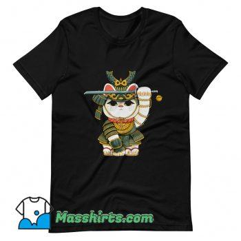 Lucky Cat Samurai T Shirt Design