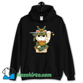 Lucky Cool Lucky Cat Samurai Hoodie StreetwearCat Samuraiaaa