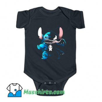 Marvel Superhero Venom Stitch Baby Onesie