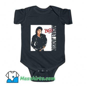 Michael Jackson Bad Singer Baby Onesie