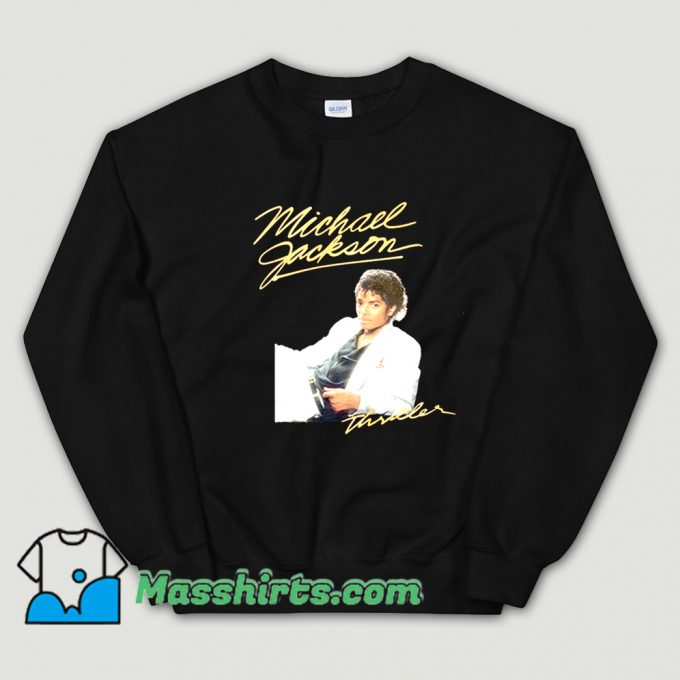 Awesome Michael Jackson Thriller Album Cover Sweatshirt