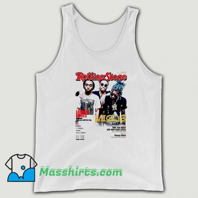 Awesome Migos Rolling Stones Cover Tank Top