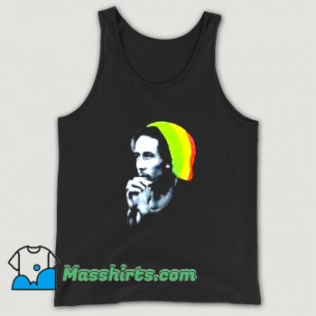 Reggae Bob Marley Knitted Hat Tank Top