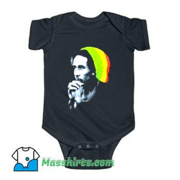 Vintage Reggae Bob Marley Knitted Hat Baby Onesie