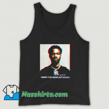 Roddy Ricch Sorry For Being Antisocial Tank Top