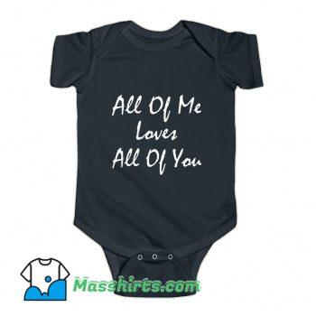 Song Lyrics All Of Me John Legend Baby Onesie