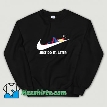 Comic Spider Man Just Do It Later Sweatshirt