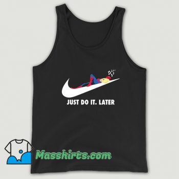 Vintage Spider Man Just Do It Later Tank Top