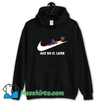 Spider Man Just Do It Later Hoodie Streetwear