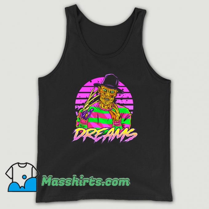 Awesome Synth Dreams Horror Tank Top