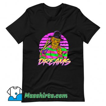 Cheap Synth Dreams Horror T Shirt Design