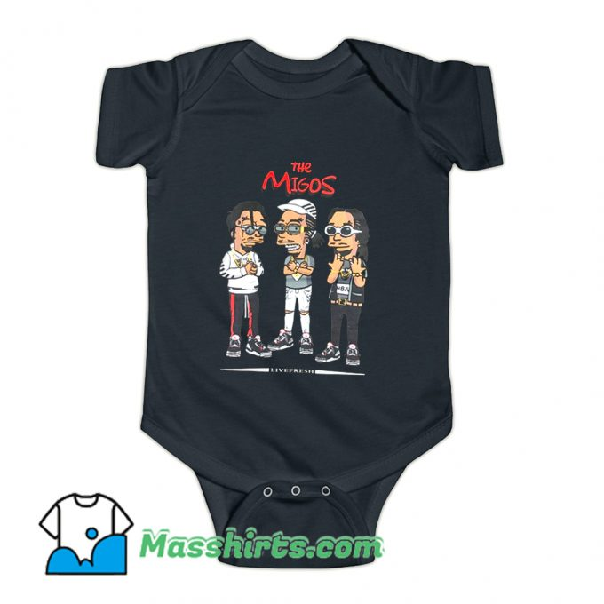 The Migos Wearing Glasses Baby Onesie