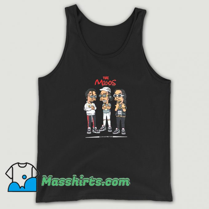 The Migos Wearing Glasses Tank Top