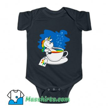 Unicorn In A Cup Of Tea Baby Onesie