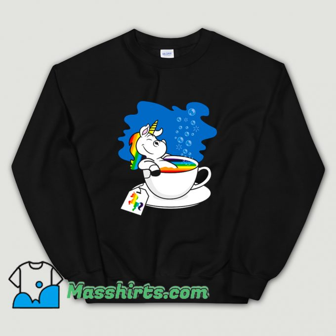 Funny Unicorn In A Cup Of Tea Sweatshirt