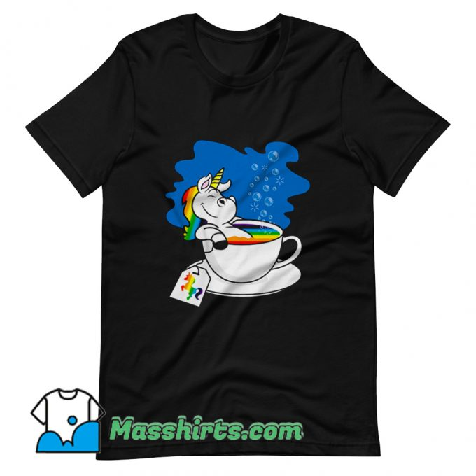 Unicorn In A Cup Of Tea T Shirt Design On Sale