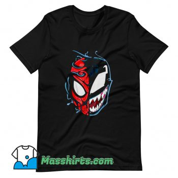 Venom Spider Man Big Face T Shirt Design