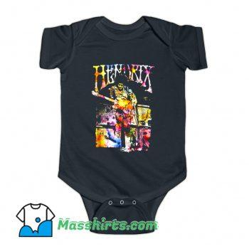 Watercolor Musician Jimi Hendrix Baby Onesie