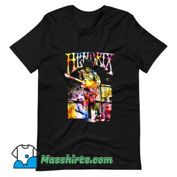 Watercolor Musician Jimi Hendrix T Shirt Design