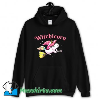 Witchicorn Flying Using A Magic Broom Hoodie Streetwear