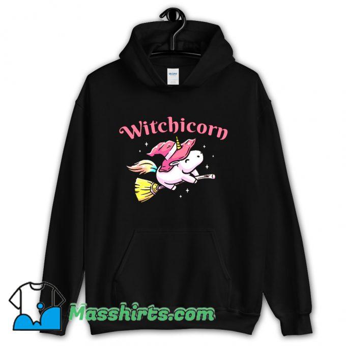 Witchicorn Flying Using A Magic Broom Hoodie Streetwear