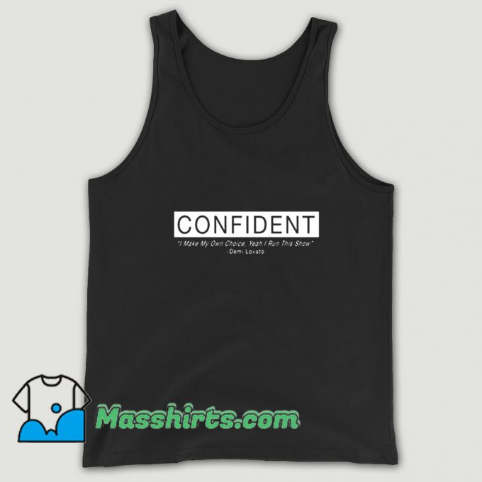 Demi Lovato Confident Album Tank Top