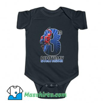 Cool 3Rd Birthday Marvel Spider-Man Baby Onesie