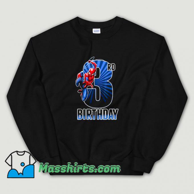 Cool 3Rd Birthday Marvel Spider-Man Sweatshirt