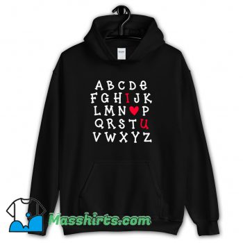 ABCDEF I Love You Hoodie Streetwear