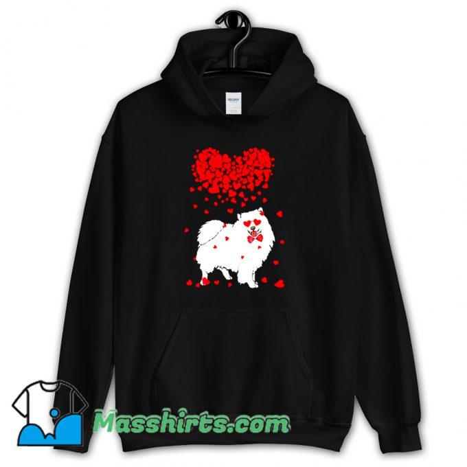 American Eskimo Dog Lover Valentine Classic Hoodie Streetwear