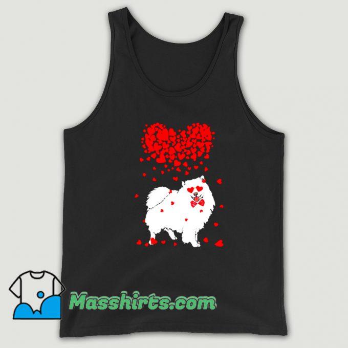 American Eskimo Dog Lover Valentine Vintage Tank Top